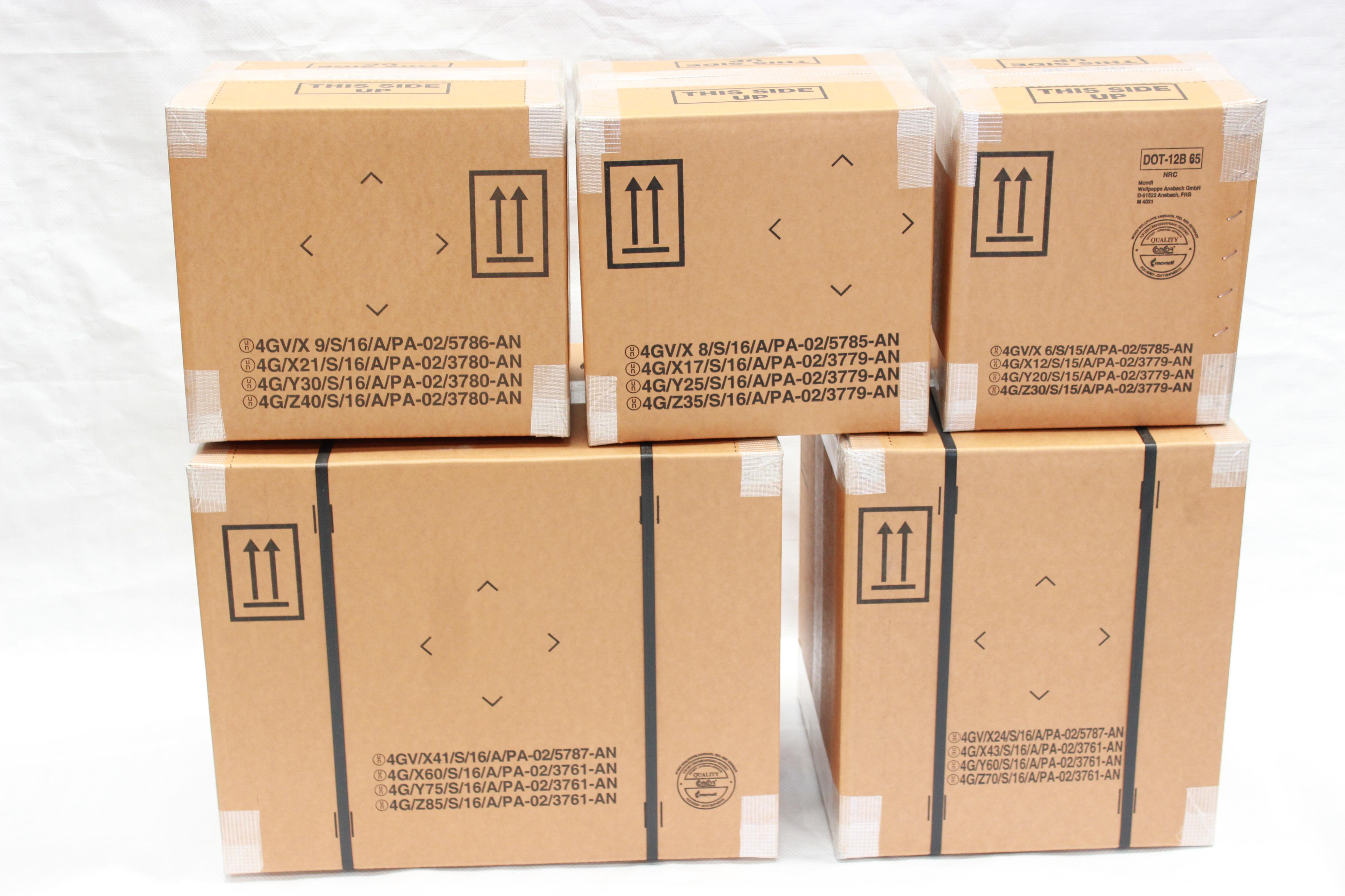 UN 4G & 4GV Fibreboard Boxes and Dangerous Goods Packaging